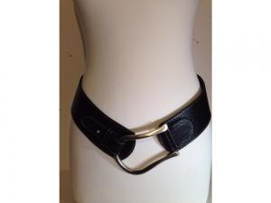 Damen-Ledergurt - Rundschliesse - dunkelblau